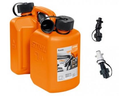 Bidon Combine Stihl Orange Standard avec becs verseurs