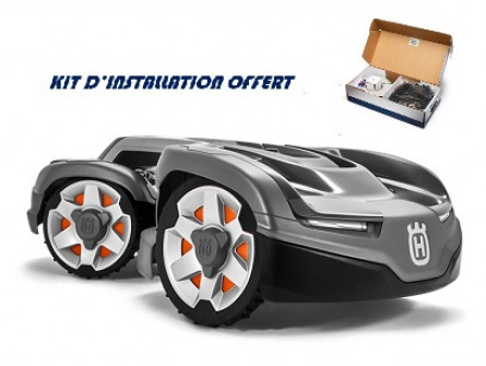 Robot Automower HUSQVARNA AM 435 X AWD 4 roues motrices avec kit d'installation M